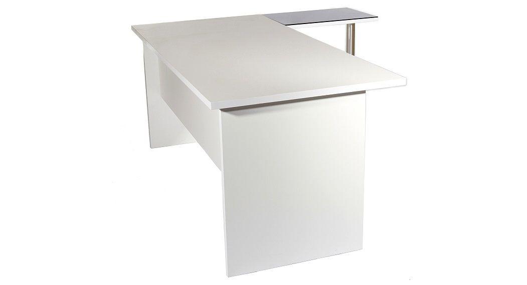 מפוארת שולחנות מנהלים - שולחן מנהלים מודרני עם שלוחת זכוכית QU-19