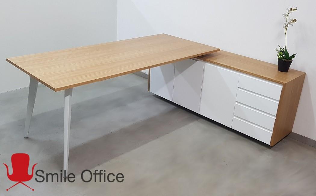 WHITE SLANT-פורניר  </BR> שולחן מנהלים