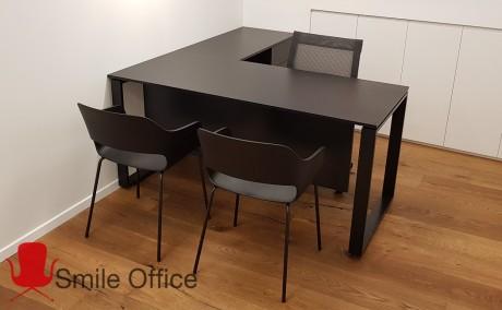 BLACK WINDOWS+מגירות </BR> שולחן עבודה
