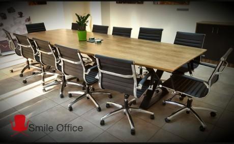 ללא ששולחן ישיבות דגם אגוז דאבל איקס