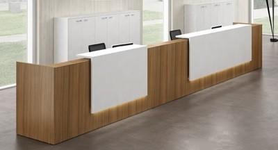 הגדול דלפקי קבלה מעוצבים ובהתאמה אישית למשרד – סמייל אופיס JL-05