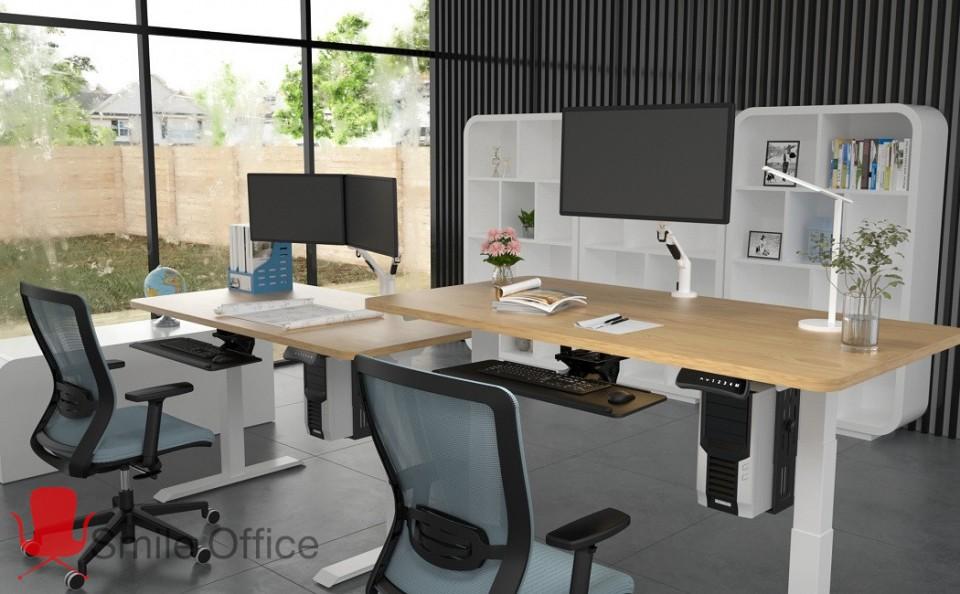stand up-WHITE</BR> שולחן עמידה חשמלי